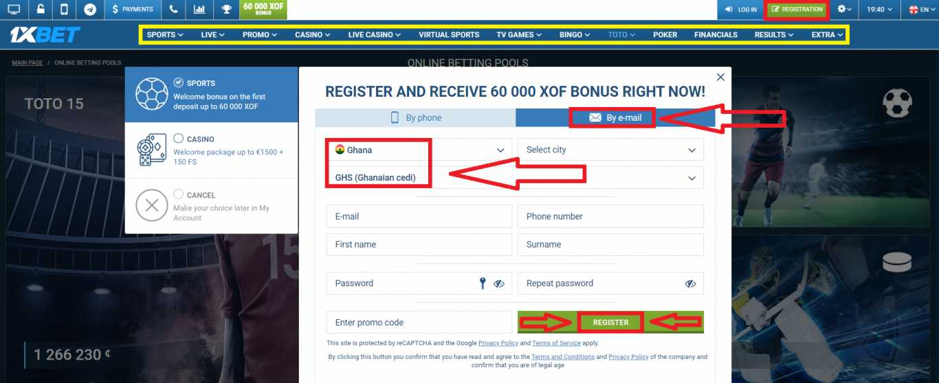 How to Use 1xBet Registration Bonus